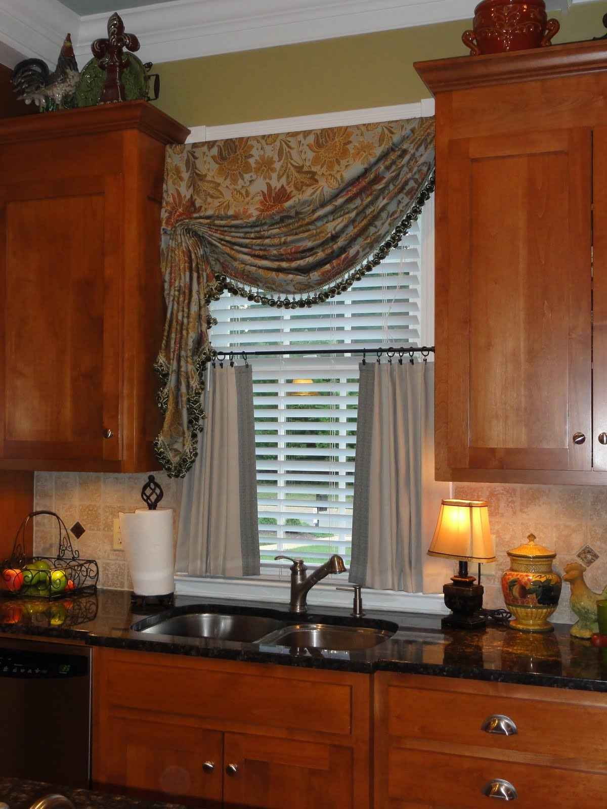 large kitchen window treatments aid attachments for ideas homesfeed