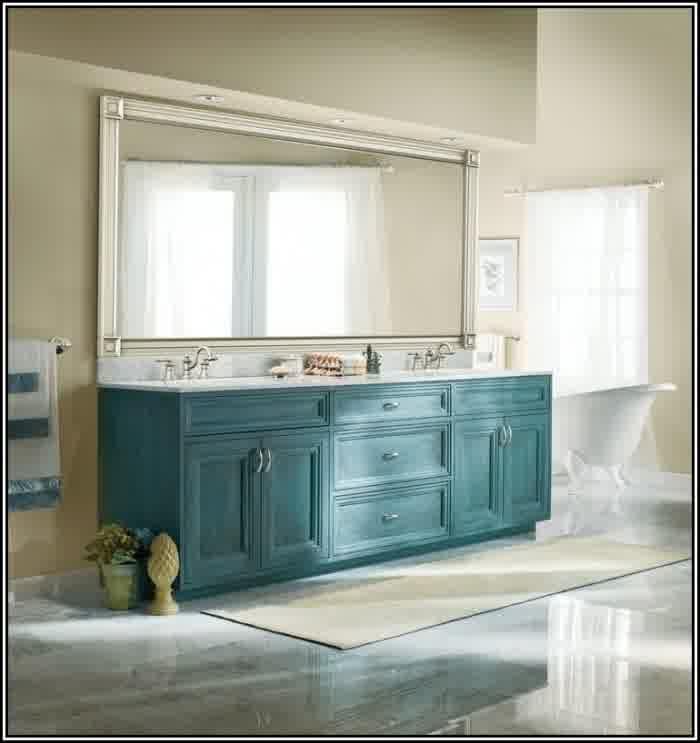 Brushed Nickel Bathroom Mirror as Sweet Wall Decoration