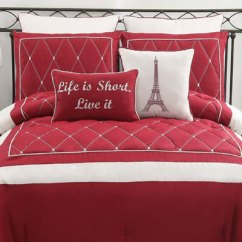 Paris Themed Living Room Red Accessories For And White Comforter Ideas | Homesfeed