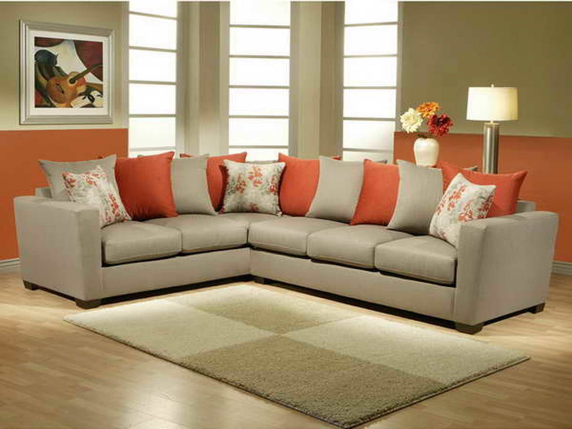 orange color sofa leather dual reclining pillows for photos hgtv thesofa