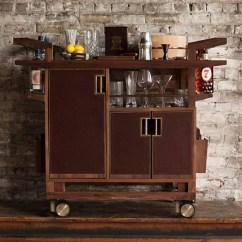 Kitchen Carts On Wheels Espresso Table Wooden Bar Cart Designs | Homesfeed