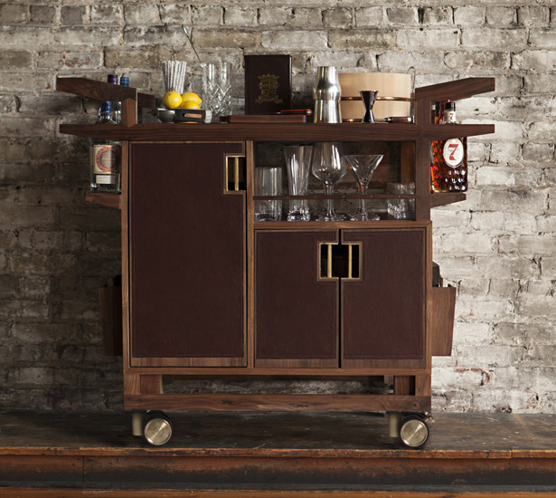 kitchen carts on wheels grey tile wooden bar cart designs | homesfeed