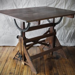 Drafting Table Chair Height Rocking With Cradle Old Homesfeed