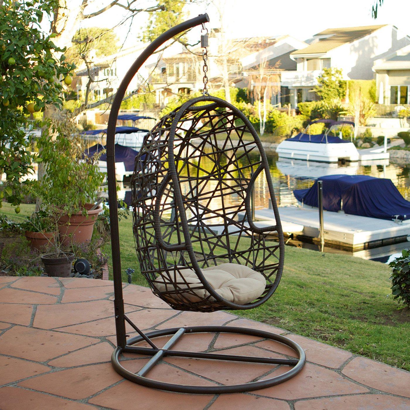 Outdoor Wicker Egg Swing Chair
