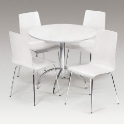 White Table Chairs Bedroom Chair Dunelm Round Dining Set For 4 Homesfeed Pure With Metal Base And Four Legs