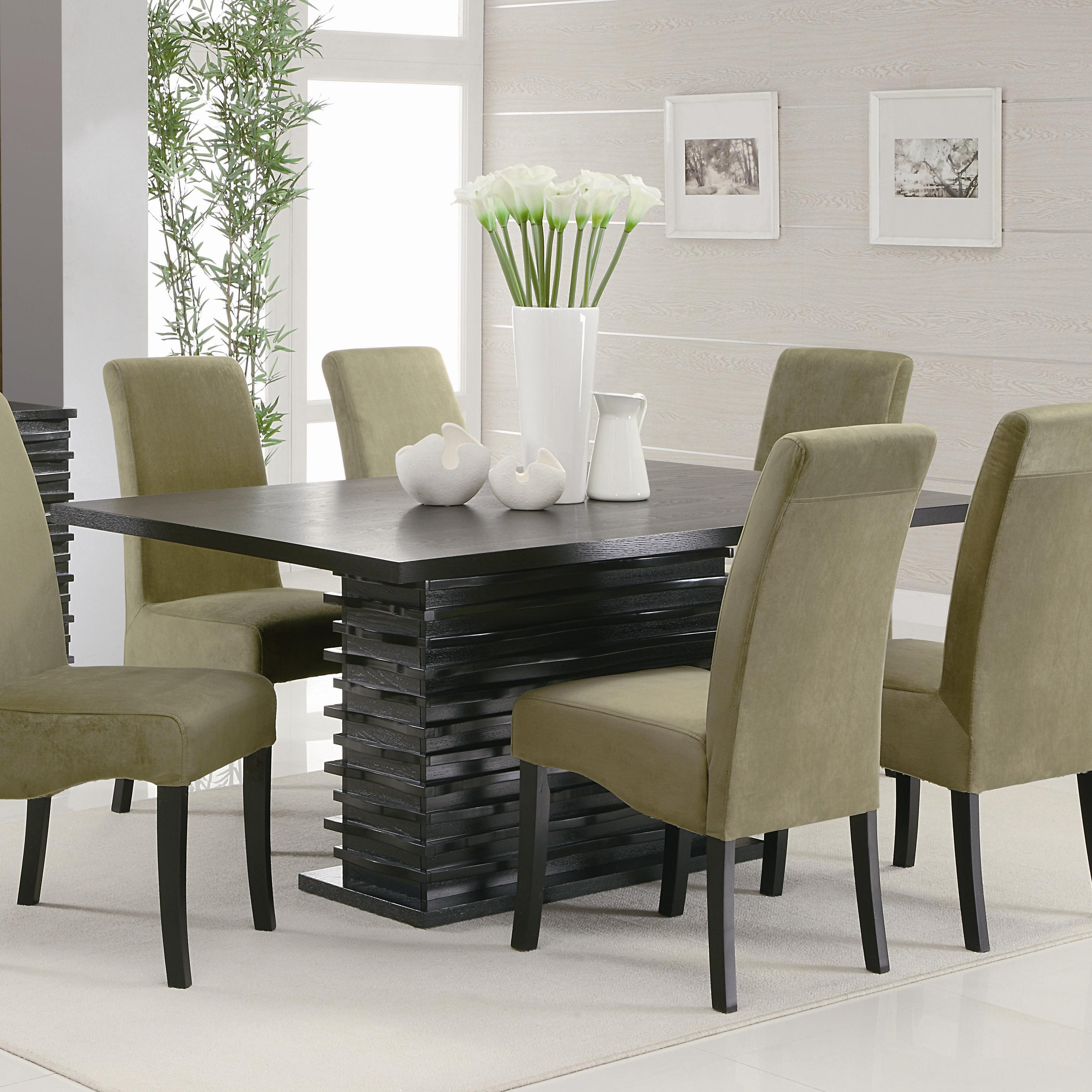 green dining room table and chairs solid oak seats 12 for big family homesfeed rectangle black wooden combined with cream leather legs white floor