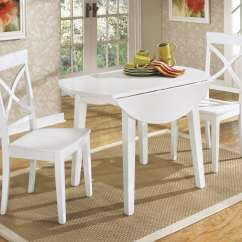 White Kitchen Table And Chairs Small Wooden Dining Round Design Homesfeed