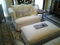 Comfortable Oversized Chairs with Ottoman