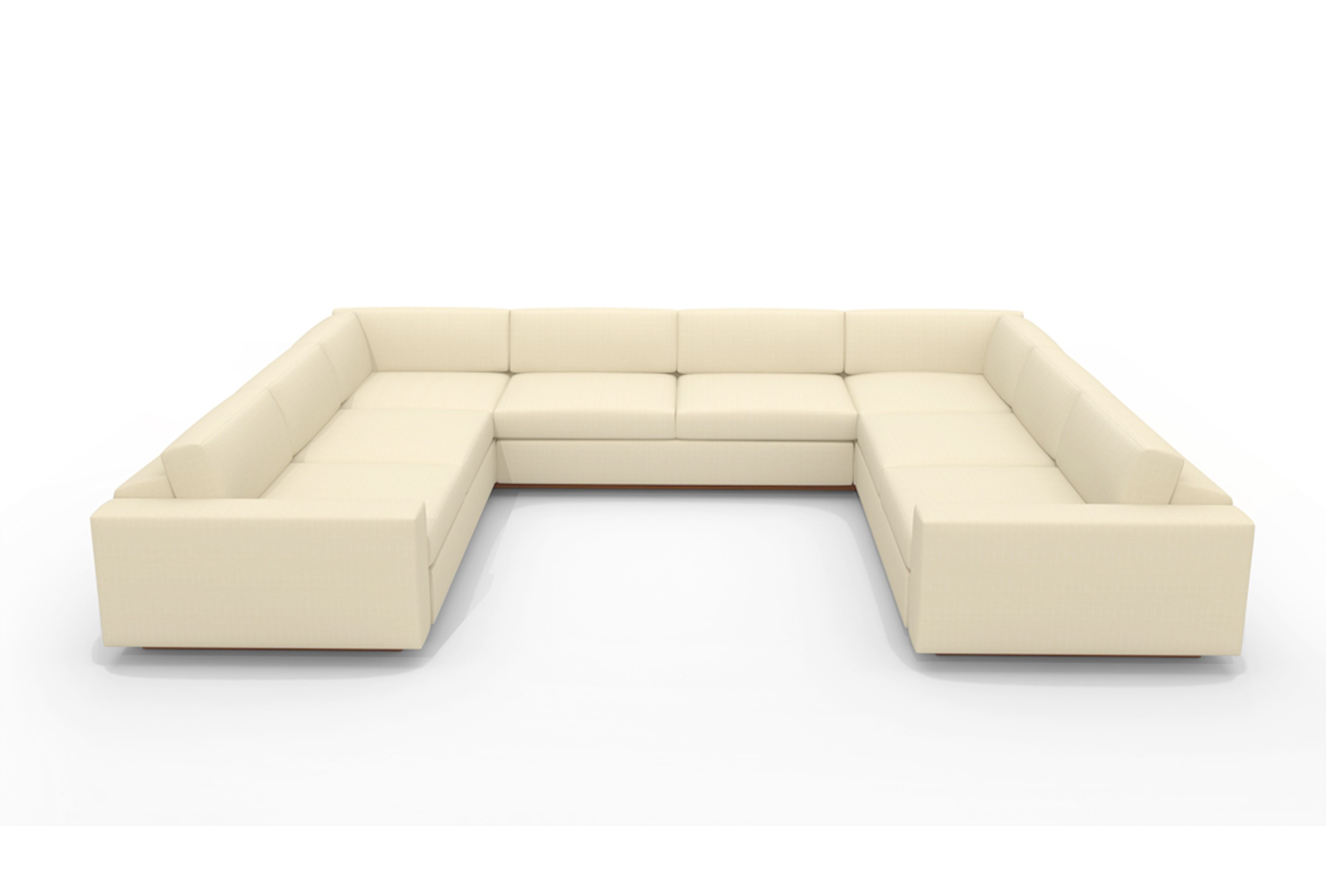 sectional sofa u shaped lounger with ottoman chaise design homesfeed
