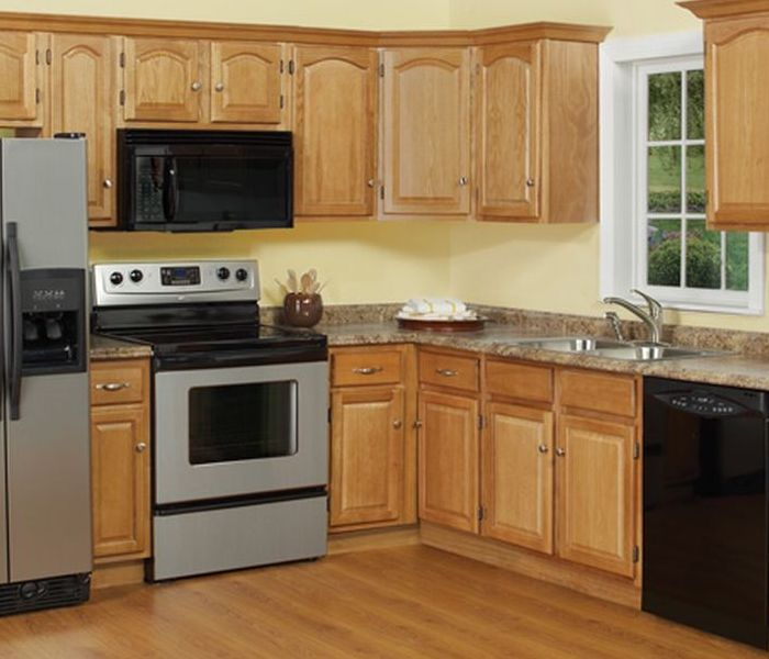 unfinished oak kitchen cabinets coloured small appliances clearance   homesfeed