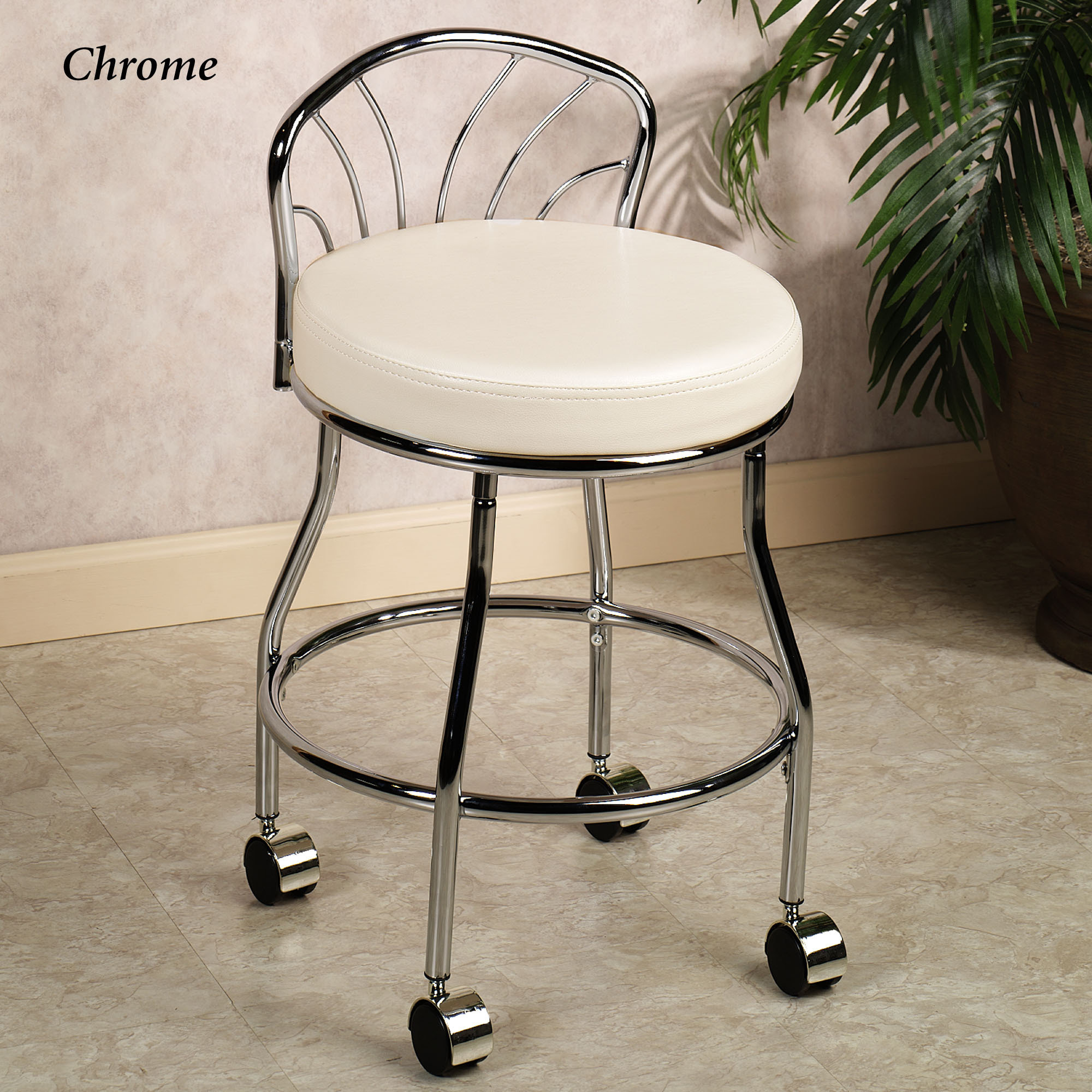 rolling bath chair chippendale chairs for sale vanity stool homesfeed
