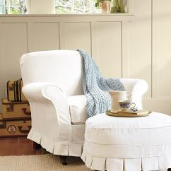 White Slipcovered Chair Officemax Desk Ideas Homesfeed