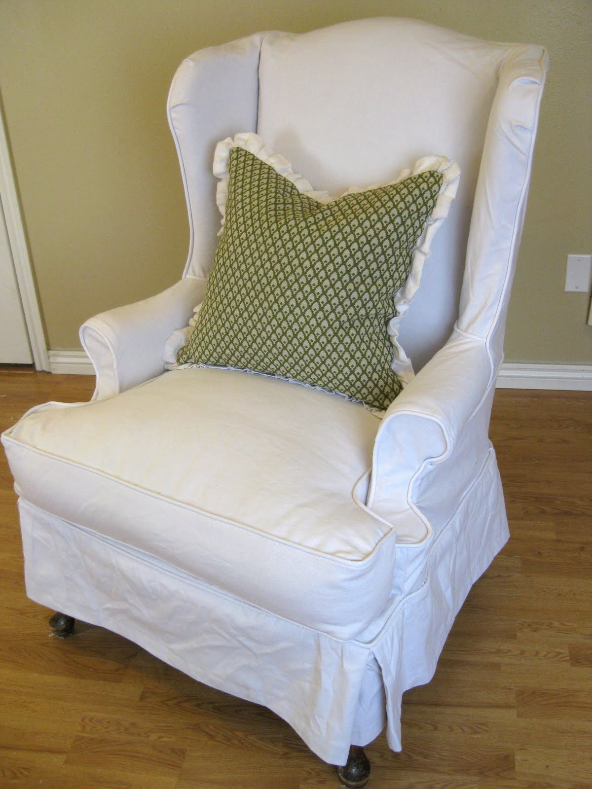 white slipcovered chair hanging wicker with stand ideas homesfeed