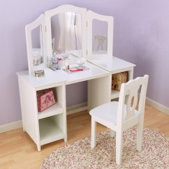 White Bedroom Vanity Chair Child Rocking Walmart With Back Design Options Homesfeed