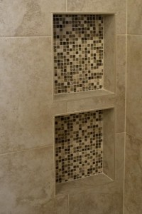 Built In Shower Shelves | HomesFeed