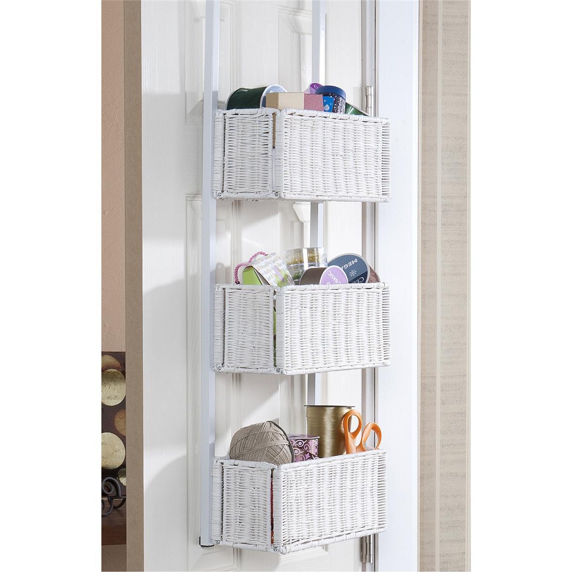 Over the Door Basket Storage  the Nuance of Functional