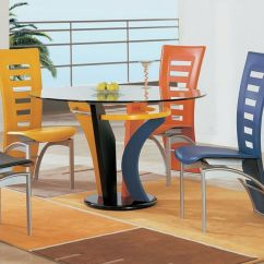 Colorful Wooden Kitchen Chairs Seated Chair Yoga Poses For Seniors Fascinating Dining Room Ideas Homesfeed