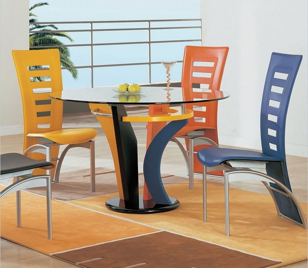colorful wooden kitchen chairs bar height office chair fascinating dining room ideas homesfeed
