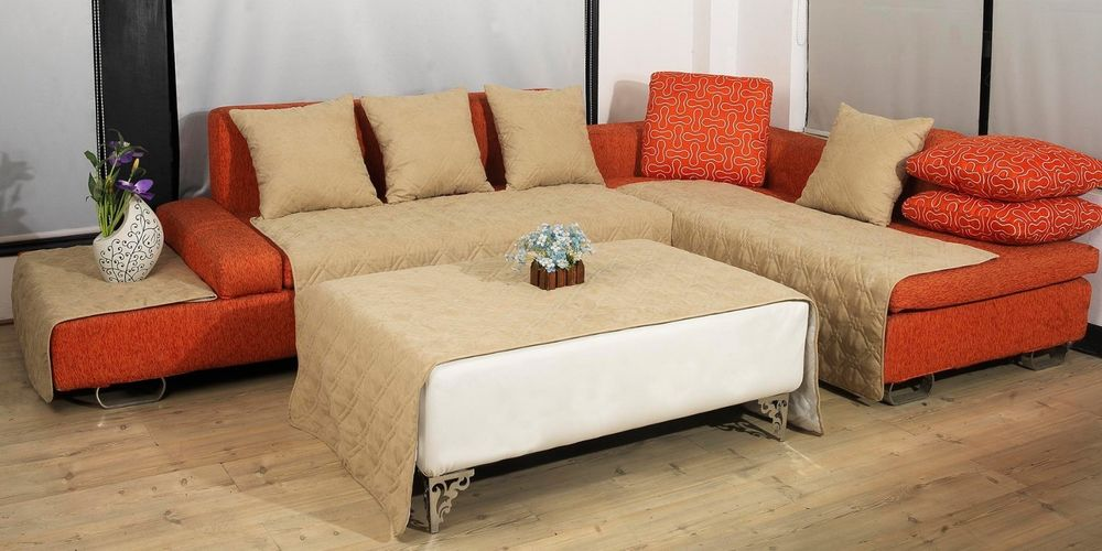 sofa coverings dogs tight back sofas from ethan allen couch cover for sectional way to treat furniture wise homesfeed gorgeous classy creamy idea with orange tone accent and white coffee table