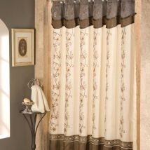 Art Deco Shower Curtain Decorate Bathroom With