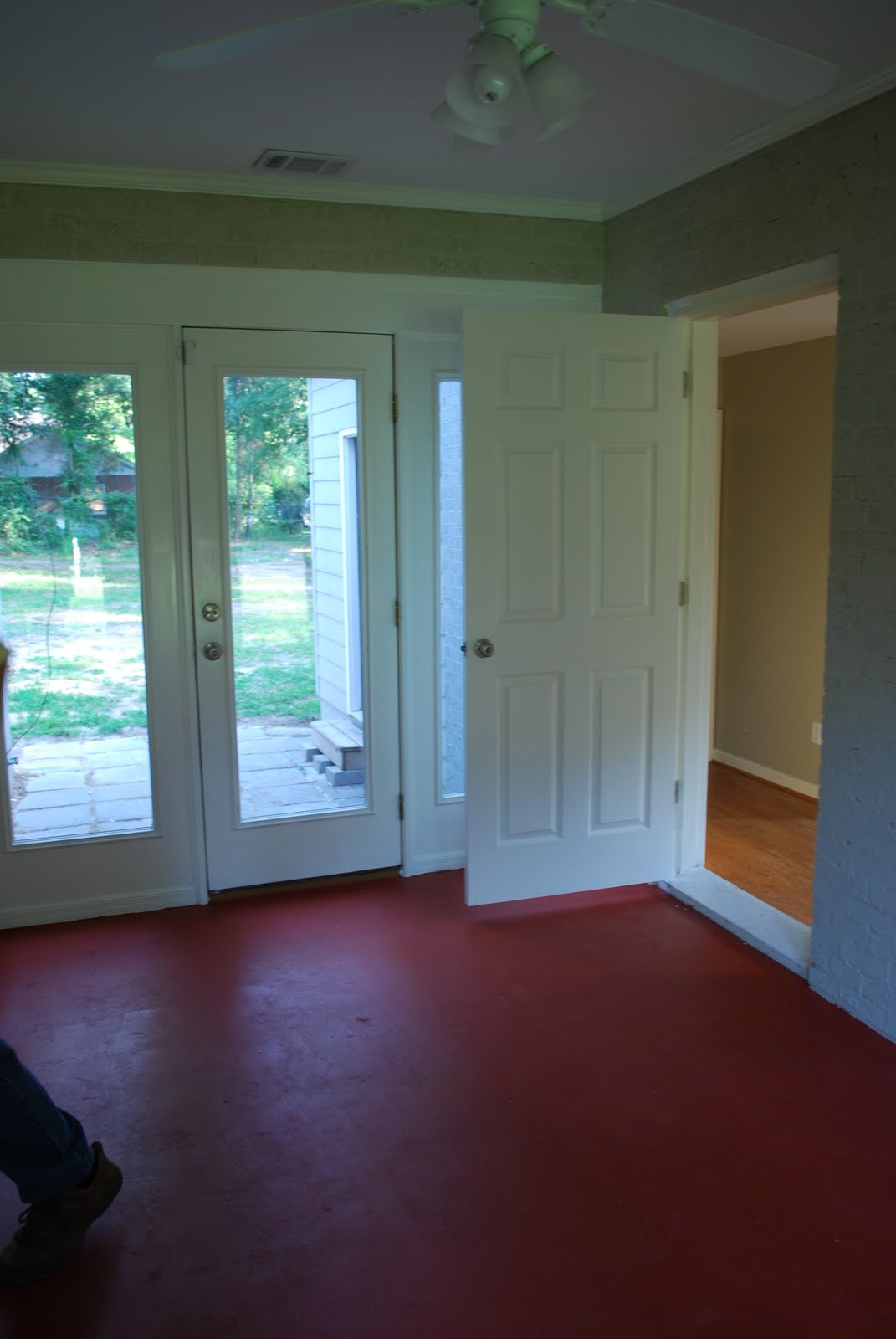 Interior with Floor Painting Idea  the Nuance of