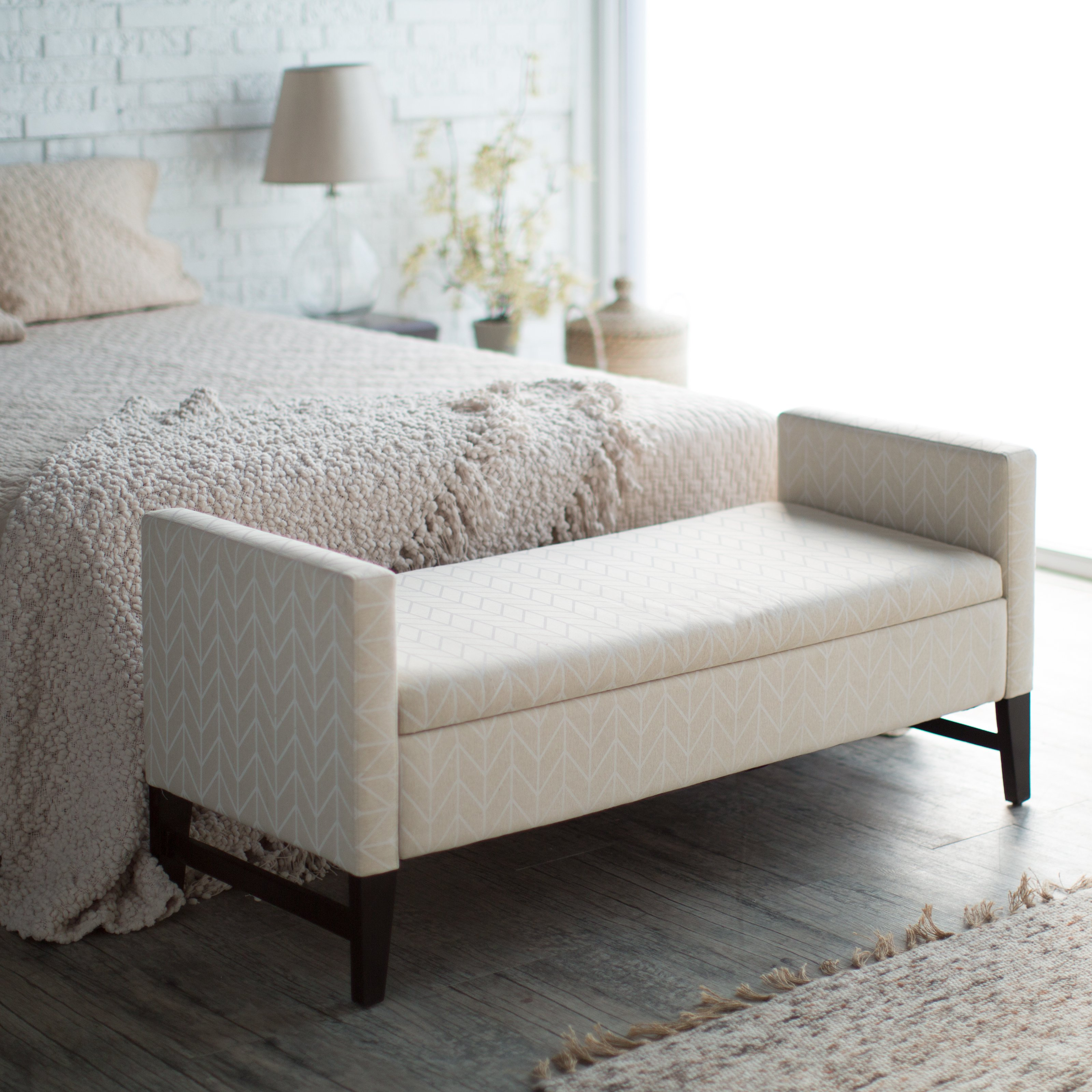chairs for the end of your bed chair upside down on table add an extra seating or storage to bedroom with