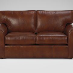 Modern Brown Leather Sofa Queen Sleeper Free Shipping Ethan Allen Furniture For Charming And Comfortable