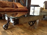 Industrial Coffee Table With Wheels - [peenmedia.com]