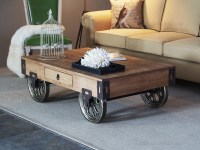 Inspirational Rustic Coffee Table with Wheels for Living