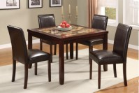 Granite Dining Table Set Flooding the Dining Room with ...