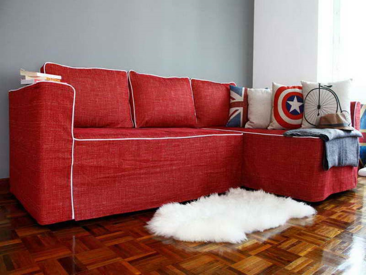 bright colored sofa covers wooden frame canada couch cover for sectional  way to treat furniture wise