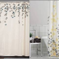 Gray And Yellow Curtains For Living Room Fun Chairs Rooms Nature Shower Curtain – Effort To Bring Awe   Homesfeed