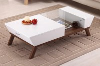 Wide Designs of White Coffee Table with Storage