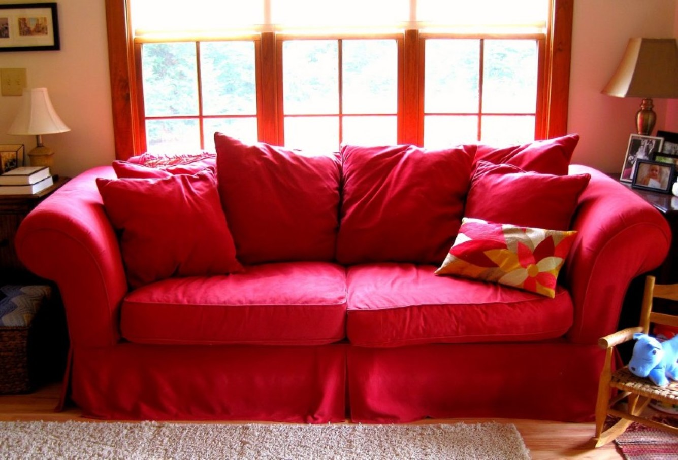 sofa designs in red colour leather modular perth couch cover for sectional  way to treat furniture wise