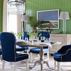 Blue And White Dining Chairs Most Ergonomic Chair Upholstered Homesfeed