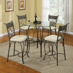 White Wrought Iron Kitchen Chairs Light Pink Chair Table Ideas Homesfeed