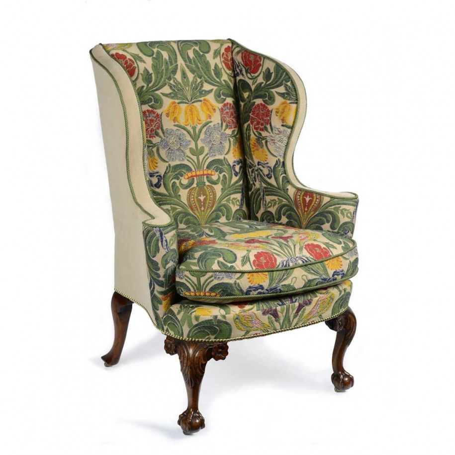 wingback chair upholstery ideas orange rocking upholstered chairs homesfeed awesome pattern on