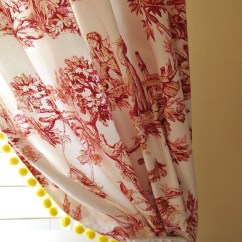 Yellow And Red Kitchen Curtains Delta Faucet Repair Parts Toile Decorating Ideas Homesfeed