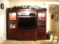 Woodworking Entertainment Center With Amazing Photo ...
