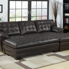 Lounging Sofa Two Seater Bed Leather 2 Piece Sectional With Chaise Design Homesfeed