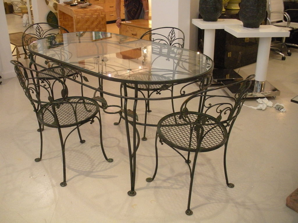 wrought iron kitchen sets cabinet table ideas homesfeed