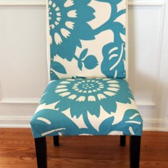 Pale Blue Chair Covers Red Pattern Accent Parson Slipcovers Design Homesfeed