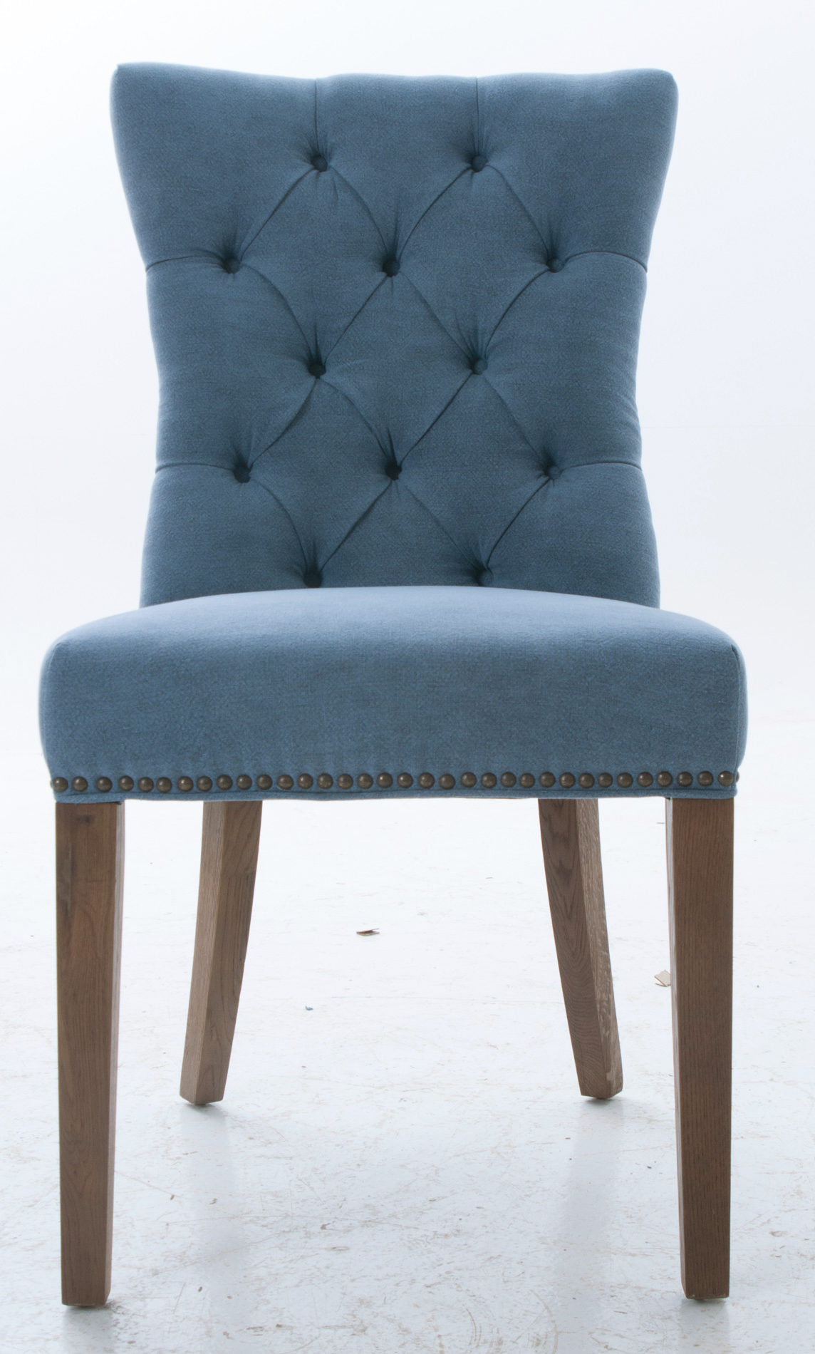 Blue Upholstered Dining Chairs