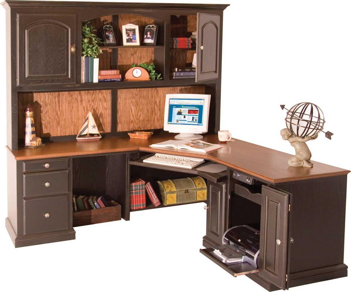 Corner Desk with Shelves Design