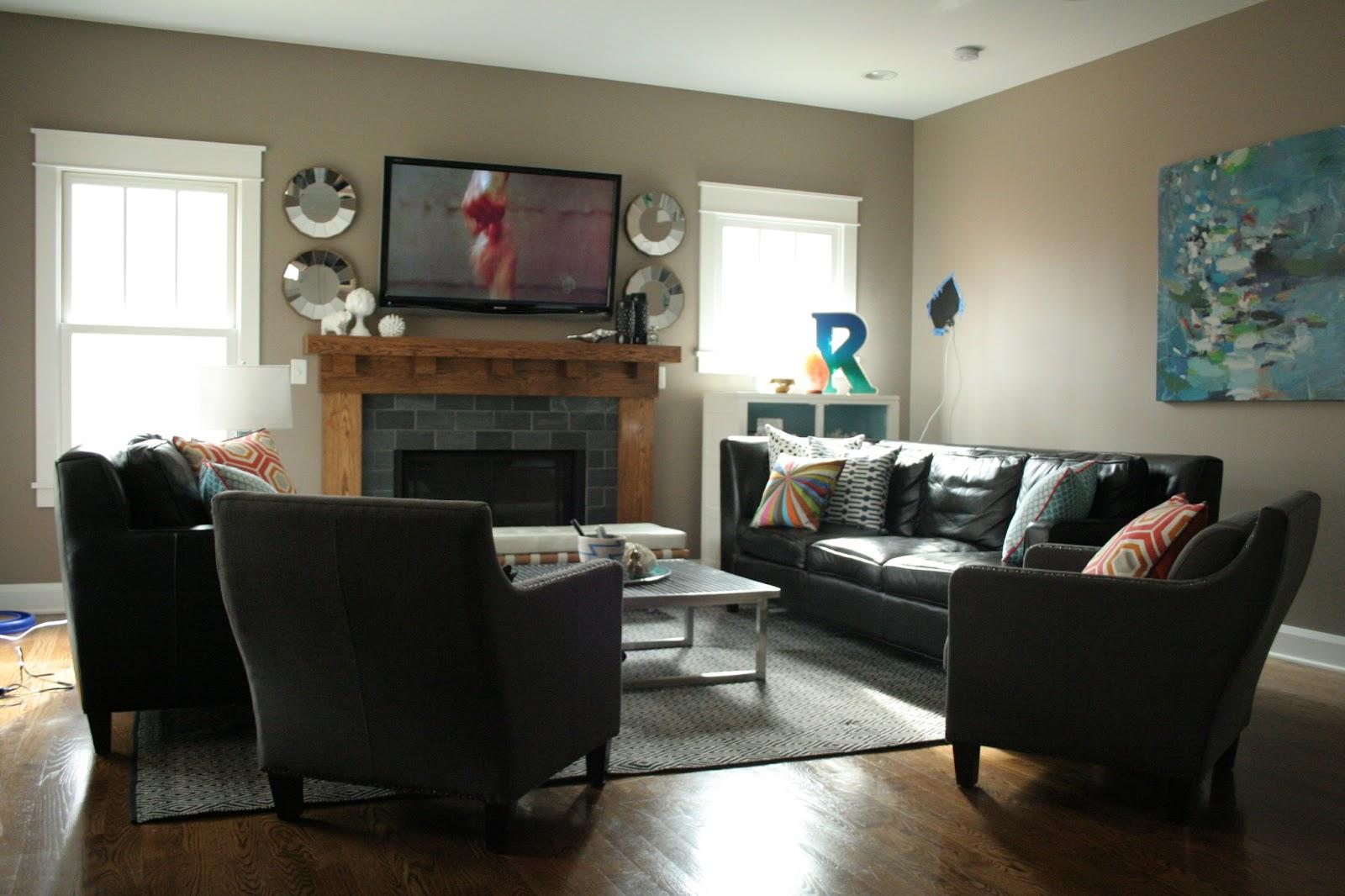 how to arrange living room with tv above fireplace open plan kitchen design ideas furniture arrangement | homesfeed
