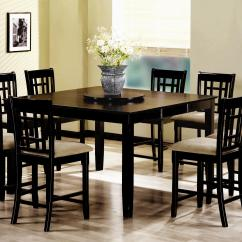 Black Square Pub Table And Chairs Chair Design Patent Counter Height Dinette Sets Homesfeed