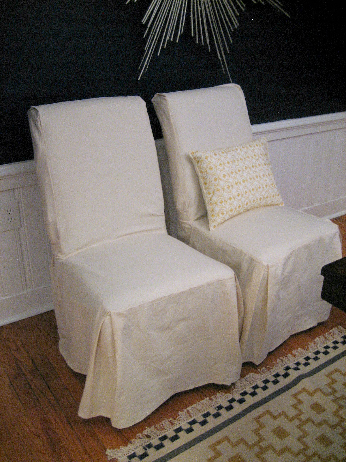 Accent Back High White Chair