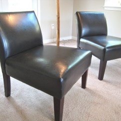 Leather Slipper Chair Chocolate Crate And Barrel Curran Dining Ideas Homesfeed
