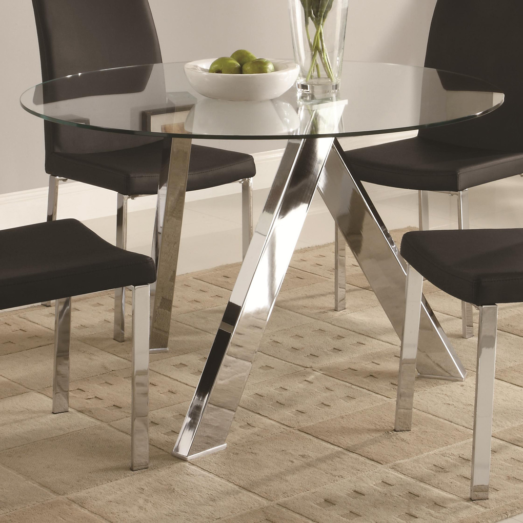 black dining room chairs with chrome legs chair yoga for the elderly table bases glass tops | homesfeed