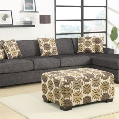 2 Piece Sectional Sofa Chaise Cornell Bonded Leather Curved With Design Homesfeed